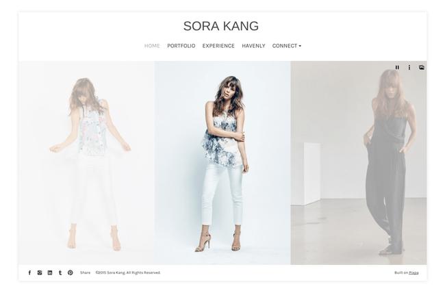 modeling portfolio website