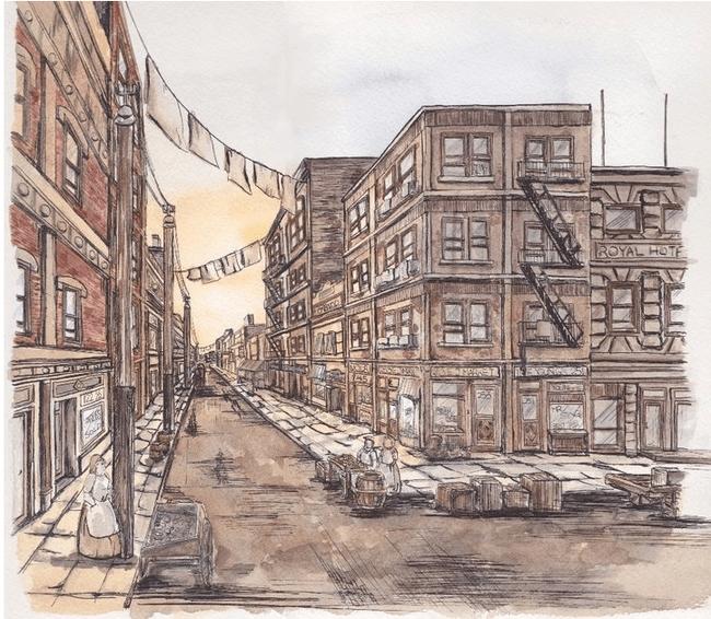 Pei-Wen Huang Shea Street Illustration