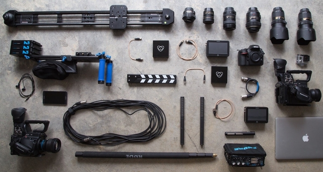 Professional photographer's equipment