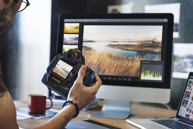 Editing professional photographs