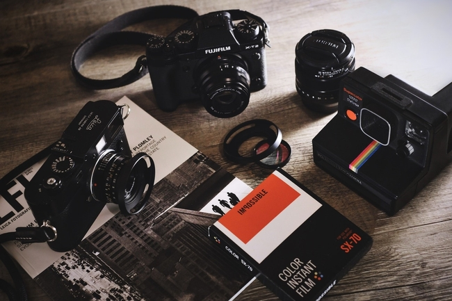 Professional photography camera gear
