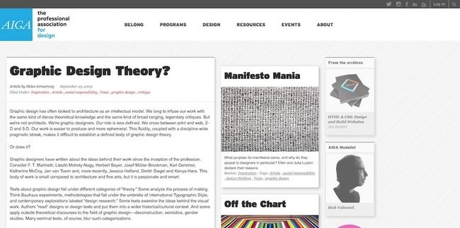 AIGA: Graphic Design Theory