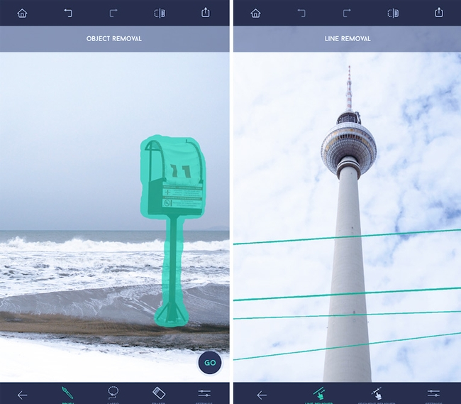 TouchRetouch photo editing app