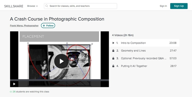 Photographic Composition from Skillshare