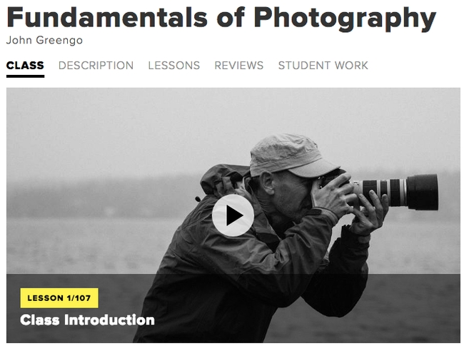 Beginner Photography Course Bundle from Creativelive