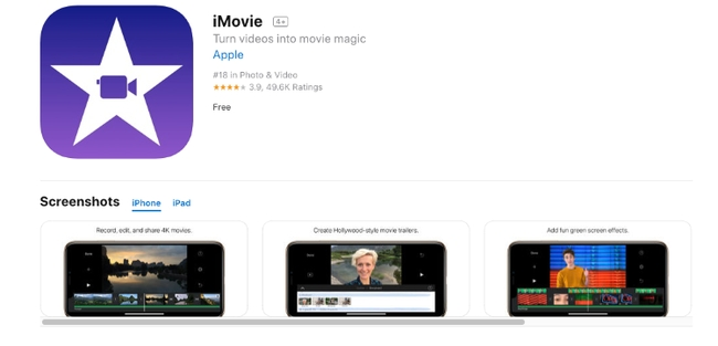 iMovie - Video Editing Apps