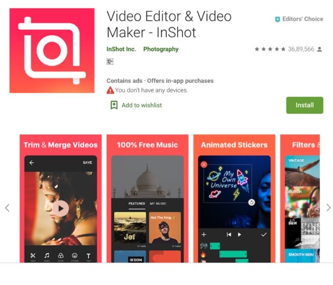 Inshot - Video Editor and Video Maker