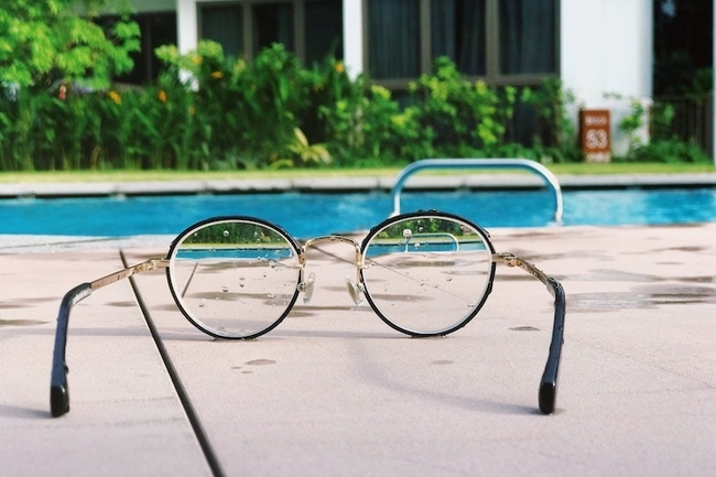 View the pool through two very different perspectives