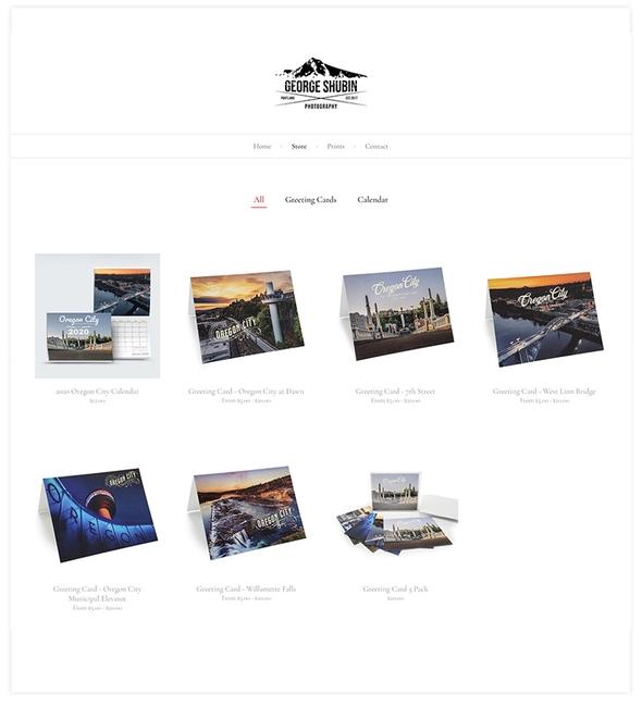 Photography store on Pixpa