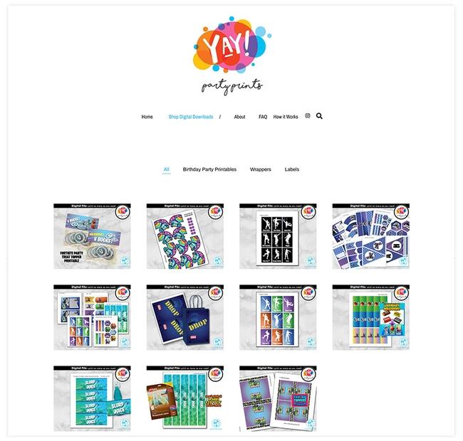 Graphic Design Store on Pixpa