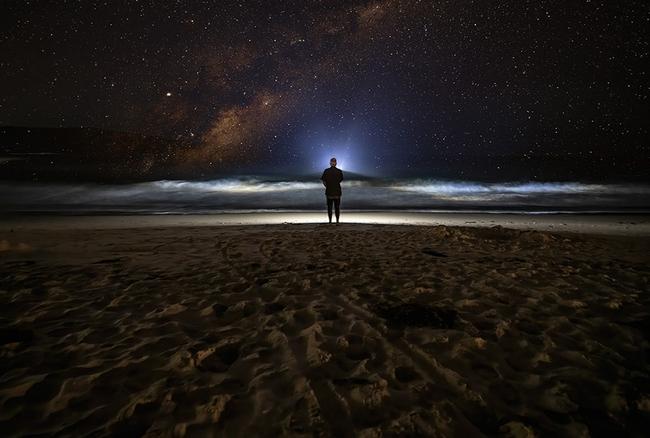 Beach night photography