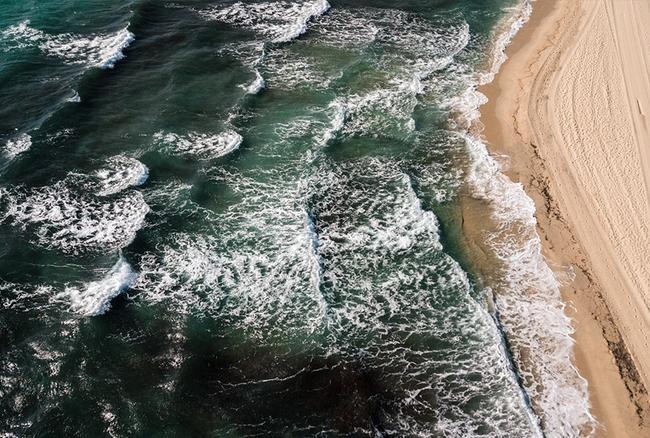 Beach photo composition