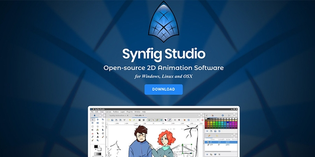 Open-source 2D animation software