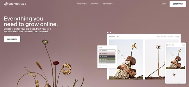 Squarespace, top rated website builder
