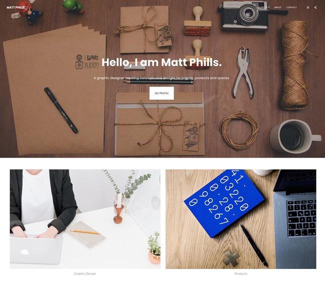 Aperture template for dynamic webpage