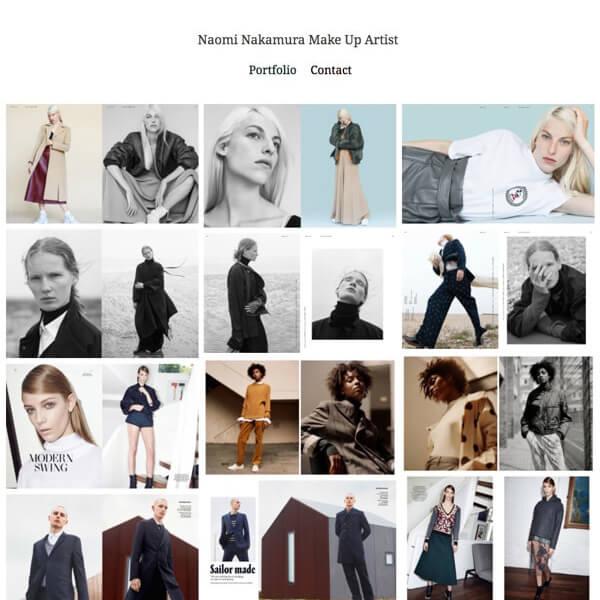 Naomi Nakamura Portfolio Website Examples