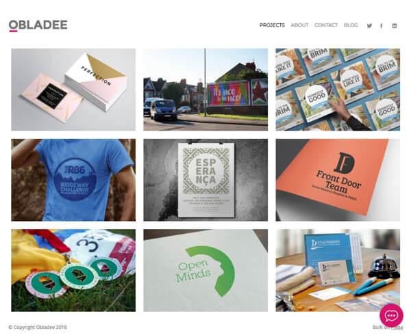 Obladee Portfolio Website Examples