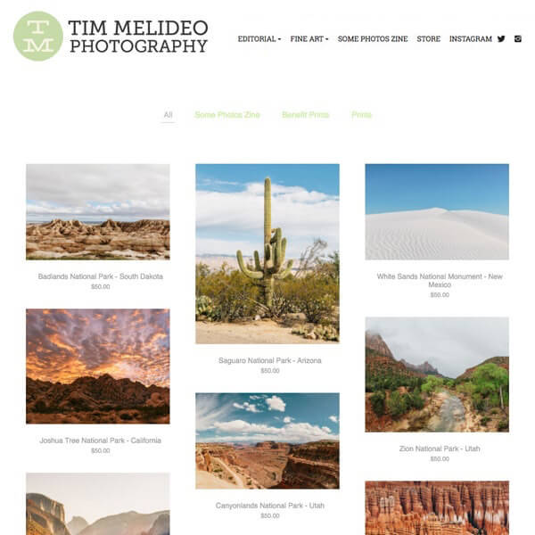 Tim Melideo Portfolio Website Examples