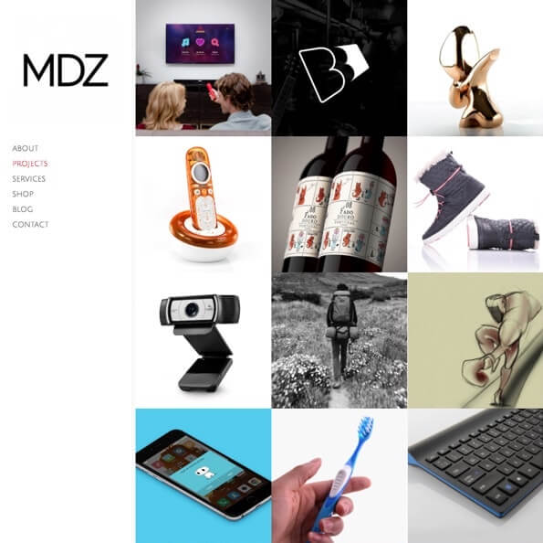 MDZ Design Portfolio Website Examples