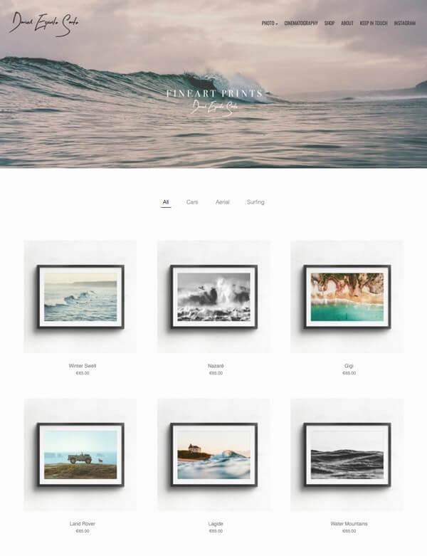 Daniel Espírito Portfolio Website Examples