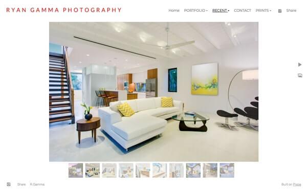 Ryan Gamma Portfolio Website Examples