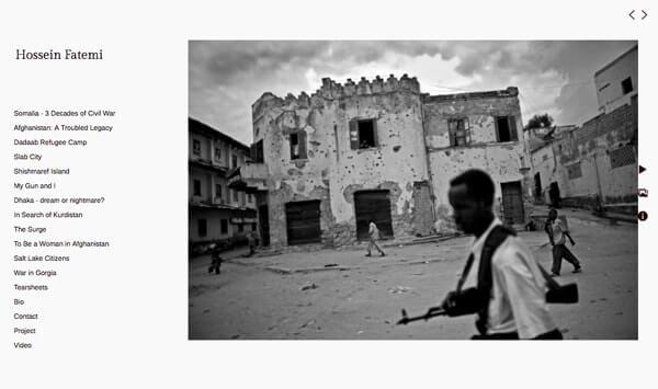 Hossein Fatemi Portfolio Website Examples