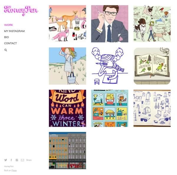 Nana Rausch Portfolio Website Examples