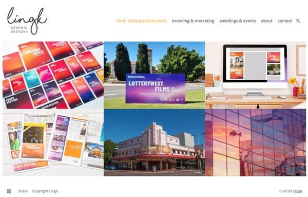 Ling K Portfolio Website Examples