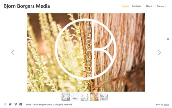Bjorn Borgers Portfolio Website Examples