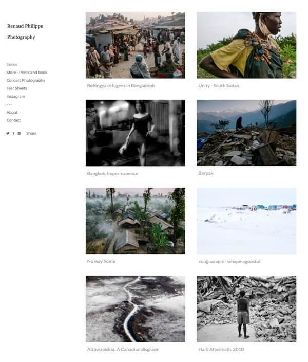 Renaud Philippe Portfolio Website Examples