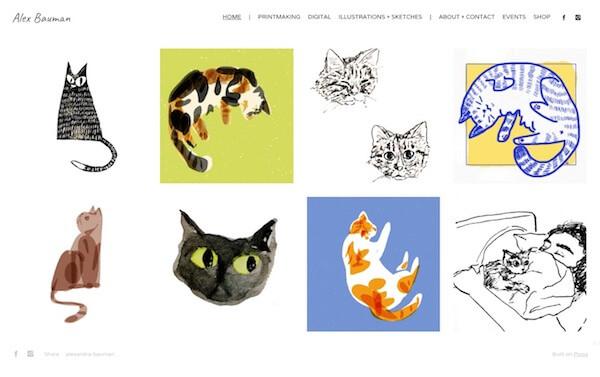 Alexandra Bauman Portfolio Website Examples