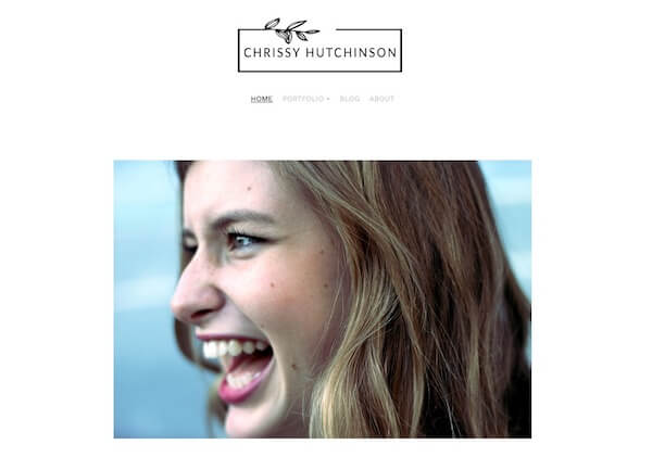 Chrissy Hutchinson Portfolio Website Examples