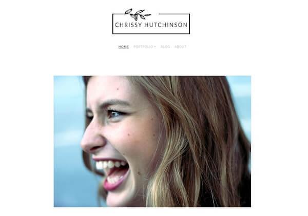 Chrissy Hutchinson Portfolio Website Examples