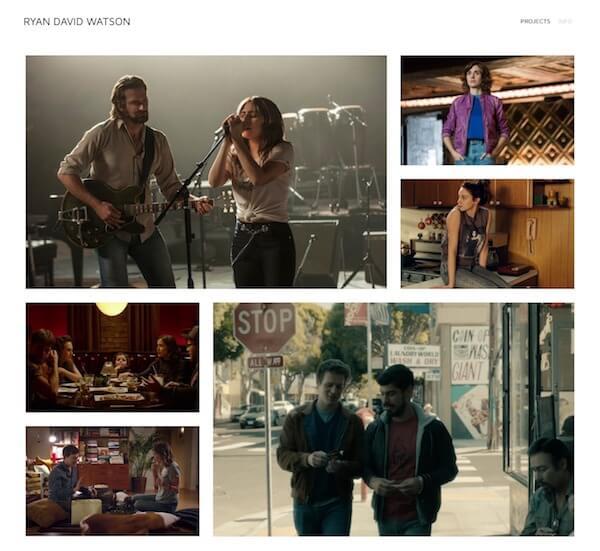 Ryan David Watson Portfolio Website Examples