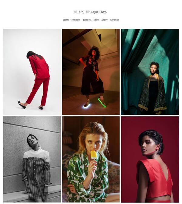 Indrajeet Raj Khowa Portfolio Website Examples