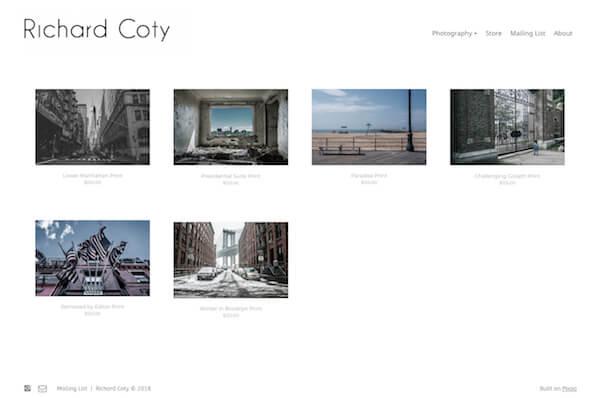 Richard Coty Portfolio Website Examples