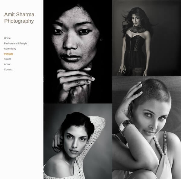 Amit Sharma Portfolio Website Examples