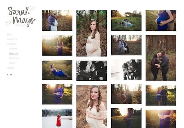 Sarah Mayo Portfolio Website Examples