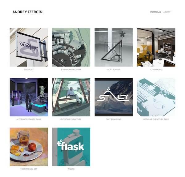 Andrey Izergin Portfolio Website Examples