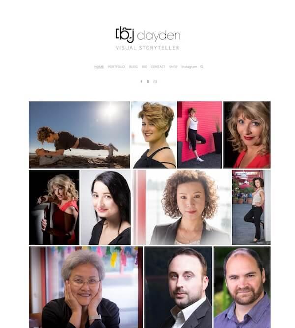 Bj Clayden Portfolio Website Examples