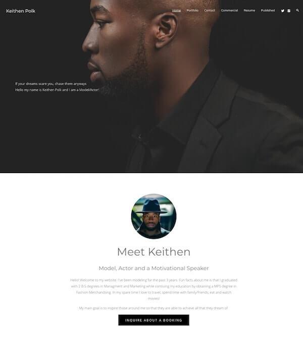 Keithen Polk Portfolio Website Examples