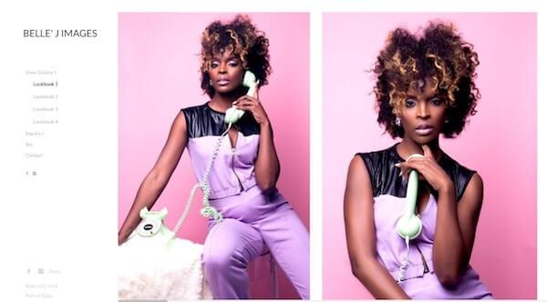 Fashion Portfolio Website Examples Pixpa