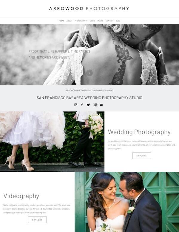 Tara Arrowood Portfolio Website Examples