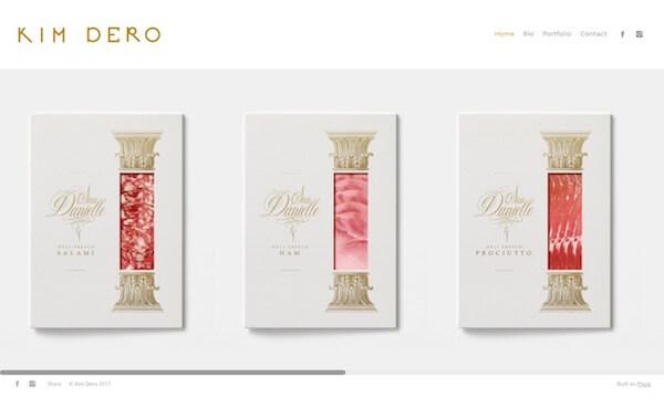 Kim Dero Portfolio Website Examples