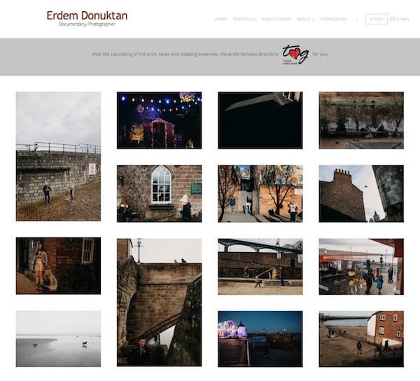 Erdem Donuktan Portfolio Website Examples