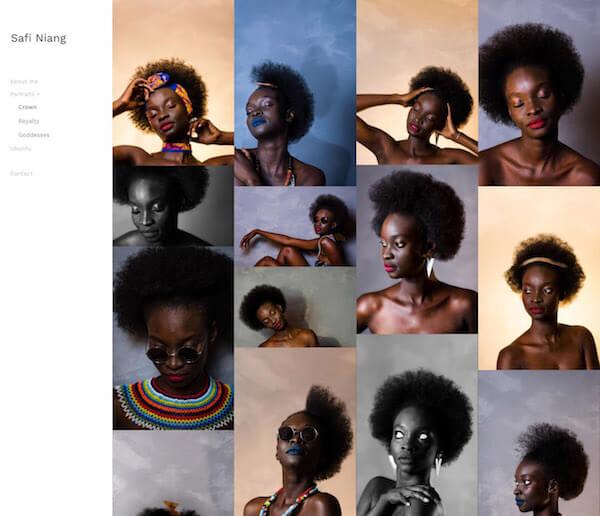 Safi Niang Portfolio Website Examples