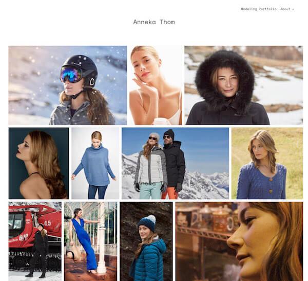 Modeling Portfolio Websites for Models, Stylists and Makeup Artists