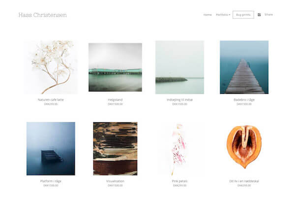 Rikke Christensen Portfolio Website Examples