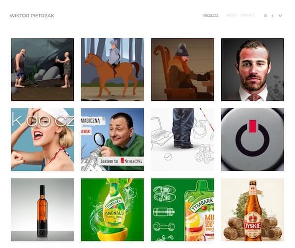 Wiktor Pietrzak Portfolio Website Examples