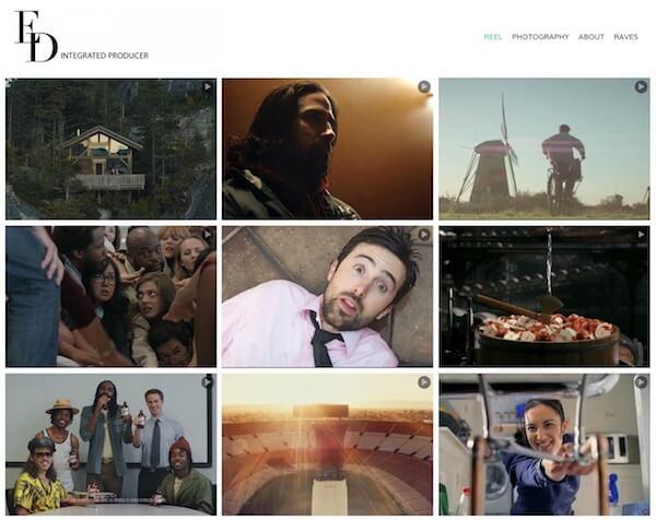 Estela Duce Portfolio Website Examples